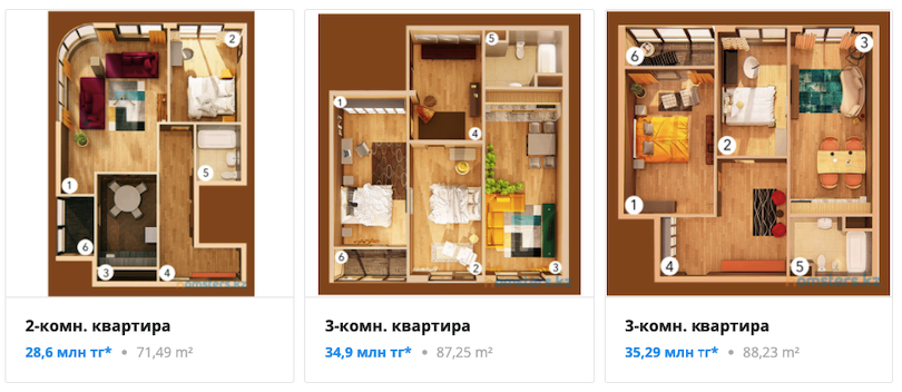 Квартиры - ЖК Сириус
