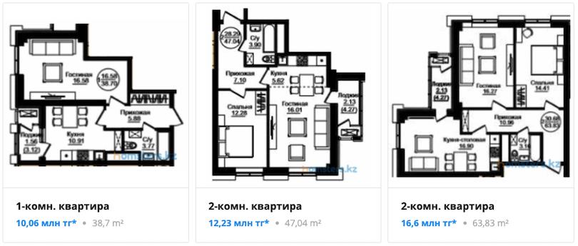 Квартиры - ЖК Samal Towers
