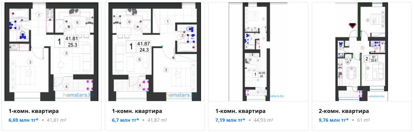 Квартиры - ЖК Qazanat 2