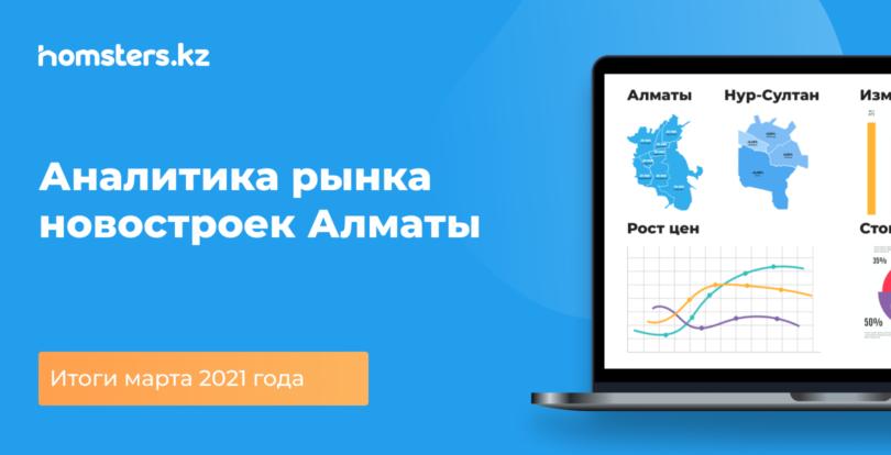 Аналитика рынка новостроек Алматы: итоги марта 2021 года