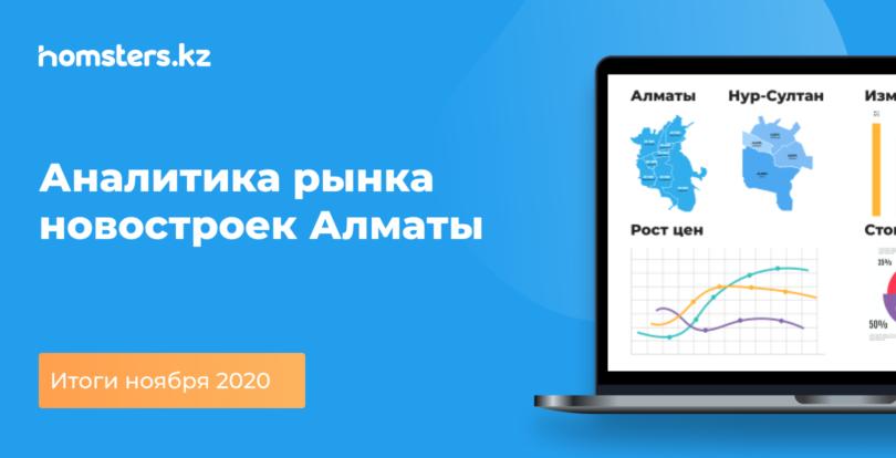 Аналитика рынка новостроек Алматы: итоги ноября 2020