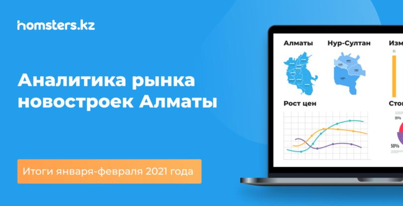 Аналитика рынка новостроек Алматы: итоги января-февраля 2021 года