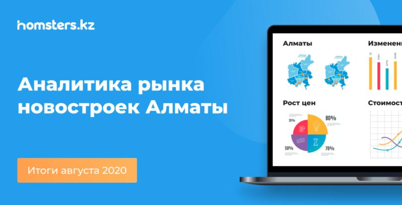 Аналитика рынка новостроек Алматы: итоги августа 2020