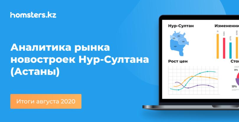 Аналитика рынка новостроек Нур-Султана (Астаны): итоги августа 2020