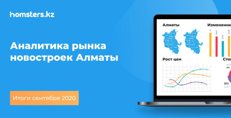 Аналитика рынка новостроек Алматы: итоги сентября 2020