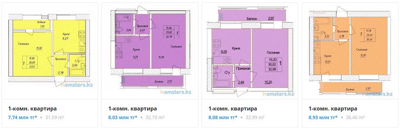 Квартиры в ЖК Бозбиик в Нур-Султане (Астана)