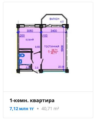 Квартиры в ЖК Акжар Тау в Алматы