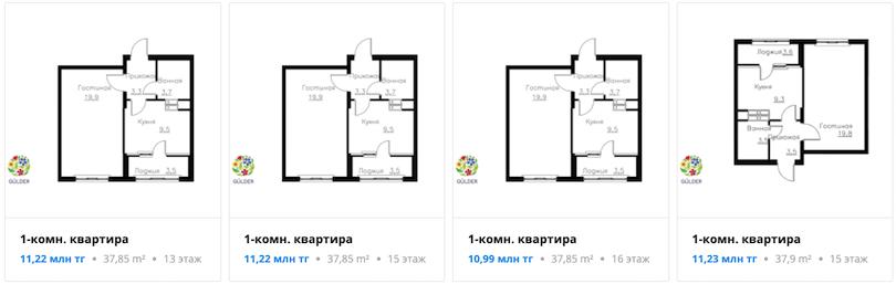 Квартиры в ЖК Gúlder в Алматы