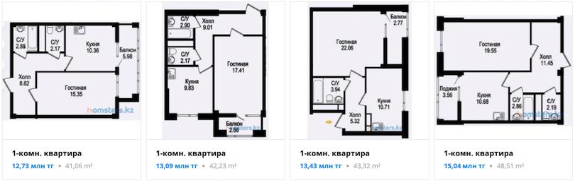 Квартиры - ЖК Шеркала