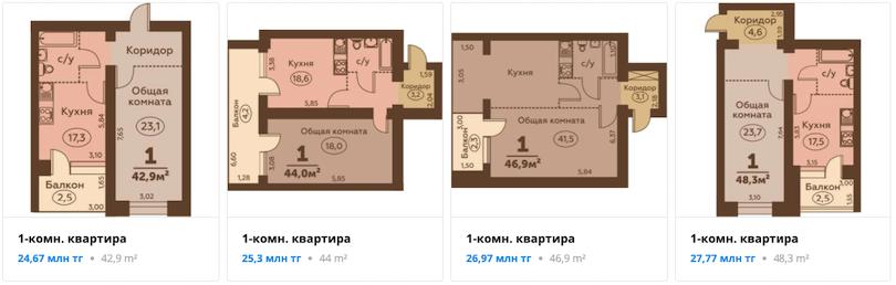 Квартиры - ЖК Dostar