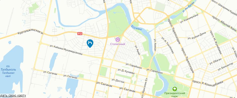 ЖК Ханшайым на карте
