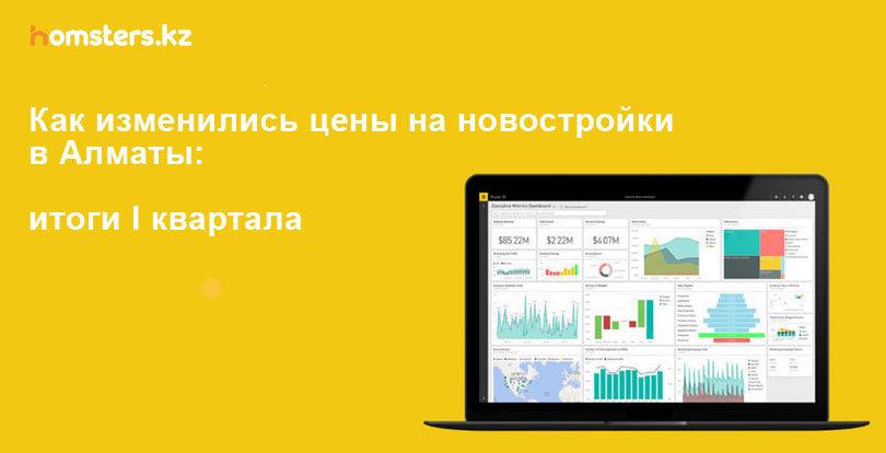 Как изменились цены на новостройки в Алматы: итоги І квартала