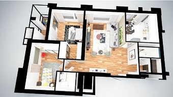 3-комн. квартира 103,83 м², ЖК Braun