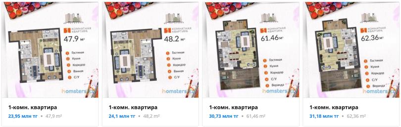 Квартиры - ЖК Дом на Гагарина