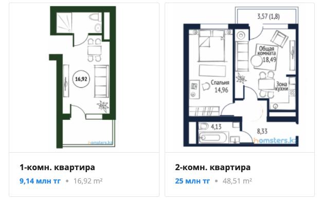 Квартиры - ЖК Отау