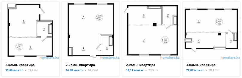 Квартиры - ЖК Радужный берег