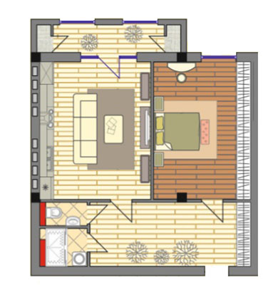 2-комнатные от 78,45 м²